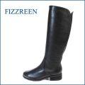 fizzreen フィズリーン fr111bl ブラック 【シンプル・スタイリッシュで 履きやすい。ポイントは・・しっとりソフトレザーのW・バックストレッチ】