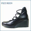 FIZZ REEN  フィズリーン fr1405bl  黒 【バツグンのクッションの 厚底後ろファスナーパンプス】
