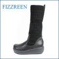fizz reen フィズリーン fr1420bl ブラック 【かわいい のびのびニットと・・まん丸ラウンドトゥ・・FIZZREEN・・ 楽らく 厚底ブーツ】