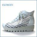 fizzreen フィズリーン fr1444wt ホワイト 【お花のチュールレース・ふんわり2重のクッション。fizzreen 厚底レースアップ】