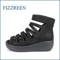 fizz reen フィズリーン fr1470bl  ブラック 【可愛い・まん丸バルーンソールと・・快適クッション・・FIZZREEN・・ブーツサンダル】