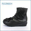 fizz reen フィズリーン fr1573bl  ブラック 【新型ロープソールと・・かわいい ボンボンお花・・FIZZREEN・・ 楽らく ラウンドショート】