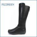 fizzreen  フィズリーン  fr1699bl ブラック 【ドンドン歩いて・・ドンドン活躍。。新鮮・後ろファスナーとサイドゴム・・fizzreen・可愛いロングブーツ】