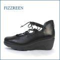 フィズリーン fizzreen  fr1834bl ブラック 【ダブルのふわふわ クッション・・気持いいやすらぎインソール・・・fizzreen・・ひもリボン パンプス】