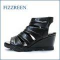 fizzreen フィズリーン fr2702ble ブラック 【上品スッキリのシンプルデザイン・・FIZZREEN・・・・ソフトなFITの・ウェッジサンダル】