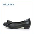 FIZZ REEN フィズリーン fr3281bl ブラック 【かわいい大きめリボン・・・足に吸いつく履き心地・・ fizzreen FITするソフトレザーパンプス】