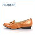 fizzreen フィズリーン fr337og  オレンジ 【スポッ と履けて・・ゴムゴムFIT・・足裏リラックスの・・・FIZZREEN・・ローファースリッポン】