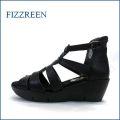 fizzreen フィズリーン fr3708bl ブラック 【可愛い底まわり・・特殊なこぶこぶインソール・・fizzreen 楽々・ブーツサンダル】