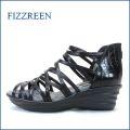 fizzreen フィズリーン fr6840bl  ブラック 【気持の良いつぶつぶクッション・・おしゃれラインメッシュ。。fizzreen ブ―ツサンダル】