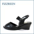 fizz reen フィズリーン fr7140bl ブラック 【安定感ある・・上質な履き心地・・FIZZREEN・・ソフトなFITの・ウェッジサンダル】