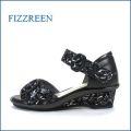 fizzreen フィズリーン fr7207bl ブラック 【しっかり足を受け止める・・新型ウィングソール・fizzreen フラワーサンダル】