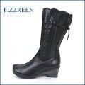 fizz reen フィズリーン fr7601bl ブラック 【可愛さ新感覚。。スッポリ包む・・フィズリーン靴・・きんちゃく・かぼちゃのリボンブーツ】