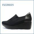 フィズリーン fizzreen fr804bl ブラック 【ストレッチで包むシンプルデザイン・・撥水加工の・・fizzreen きれいな厚底スリッポン】