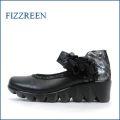 フィズリーン fizzreen  fr8120bl ブラック 【可愛いお花が咲いている・・安心な履き心地・・fizzreen 軽い190gパンプス】