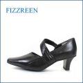 fizz reen  フィズリーン fr8916bl ブラック 【キレイにベルトでFIT・・ぴったりゴムでFIT・・FIZZ REEN  上品パンプス】