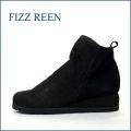 FIZZREEN  フィズリーン fr9803bl  ブラック 【スポッと履ける巾広4Eのシンプルな可愛いショートブーツ】