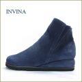 INVINA  インビナ  iv9803nv  ネイビー 【スポッ と履ける巾広4E・・撥水加工で汚れにくい・・invina シンプルで可愛いショートブーツ】