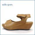 milla sports ミラスポーツ mi6352br  ブラウン 【シンプルがオシャレ・・いい色オイルレザー・・milla sports・厚底サンダル】
