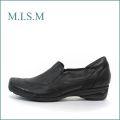 mism ミズム ms2533bl ブラック 【どんどん歩ける快適ソール・・柔らかFITの・・mism 吸いつくスリッポン】