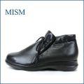 mism ミズム ms305bl ブラック 【すぽっと履けるゴムリボン・・・よく馴染むソフトレザー・・mism・・軽いアンクル】