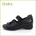 tiara ティアラ ti3727bl  ブラック  【足元・楽らく・FIT・FIT・FIT・・ スポッと履ける・・tiara・・ 上品オープントゥ 】