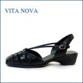 VITA NOVA ビタノバ vt1149bl ブラック 【シッカリ足を支える Vライン・・・ 快適に履ける VITANOVA 独自のソール】
