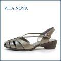 VITA NOVA ビタノバ vt1149bz ブロンズ 【シッカリ足を支える Vライン・・・ 快適に履ける VITANOVA 独自のソール】