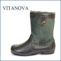 vita nova  ビタノバ vt2871dn  ダークブラウン 【可愛いまん丸オブリック、いい色してる、上品素材・ビタノバ もこもこブーツ】