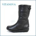 vitanova  ビタノバ vt3838bl ブラック 【シックリ足にフィットするブーツ・・vitanova・・かわいい丸まる・・ワンクラス上の履き心地】