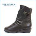 vita nova  ビタノバ vt6545br  ブラウン 【スポッと そのまま・・履ける 楽らくな・・・vita nova ワンクラス上の 履き心地・】
