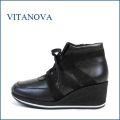 vita nova  ビタノバ vt6868bl  ブラック 【どんどん歩ける 軽量ソール。。いい革してる、高級素材・・ビタノバ 厚底アンクル】