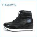 vitanova ビタノバ vt6878bl ブラック 【おしゃれブラックデニム・・vitanova・ワンクラス上のフィット感。vitanova ハイカットススニーカー】