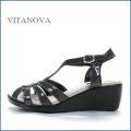 vitanova ビタノバ vt9625gy  グレイエナメル 【柔らかソールで快適・おしゃれエナメル素材。。vitanova サンダル】