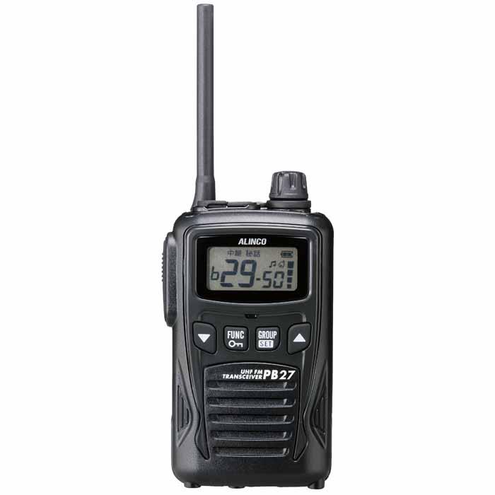 【DJ-PB27】 特定小電力トランシーバー(交互通話・中継対応)