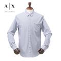 NEW!4/21入荷[アルマーニエクスチェンジ]ARMANI EXCHANGE 長袖シャツ(ネイビー×ホワイトストライプ) AX-010