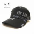 NEW!4/27入荷2021春夏モデル[アルマーニエクスチェンジ]ARMANI EXCHANGE キャップ(ブラック) AX-041