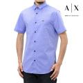 NEW!6/2入荷[アルマーニエクスチェンジ]ARMANI EXCHANGE 半袖シャツ(ネイビー) AX-043