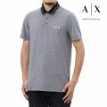 NEW!6/2入荷[アルマーニエクスチェンジ]ARMANI EXCHANGE ポロシャツ(ブラック系) AX-045