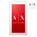 NEW!6/18入荷[アルマーニエクスチェンジ]ARMANI EXCHANGE ビーチタオル(レッド×ホワイト) AX-053