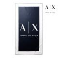 NEW!6/18入荷[アルマーニエクスチェンジ]ARMANI EXCHANGE ビーチタオル(ブルーネイビー×ホワイト) AX-054