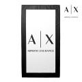 NEW!6/18入荷[アルマーニエクスチェンジ]ARMANI EXCHANGE ビーチタオル(ホワイト×ブラック) AX-055