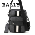 NEW!12/14入荷2018秋冬モデル[バリー]BALLY ショルダーバッグ(ブラック×ブラック) BA-142