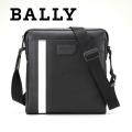 NEW!1/18再入荷[バリー]BALLY ショルダーバッグ(ブラック×ブラックライン) BA-156