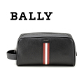 NEW!7/19入荷2019秋冬モデル[バリー]BALLY セカンドバッグ(ブラック×レッドライン) BA-157