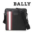 NEW!10/21入荷2019秋冬モデル[バリー]BALLY ショルダーバッグ(ブラック×レッドライン) BA-159