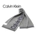 2017秋冬モデル[カルバンクライン]CALVIN KLEIN ニットマフラー(グレー×ネイビー) CK-322