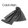 NEW!10/26再入荷[カルバンクライン]CALVIN KLEIN マフラー(チャコールグレー×ブラック) CK-324