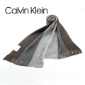NEW!9/26入荷[カルバンクライン]CALVIN KLEIN ニットマフラー(ブラウン×グレー) CK-331