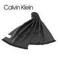 NEW!10/26再入荷[カルバンクライン]CALVIN KLEIN ニットマフラー(チャコールグレー) CK-333