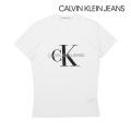 NEW!6/18入荷[カルバンクラインジーンズ]CALVIN KLEIN JEANS Tシャツ(ホワイト) CK-367